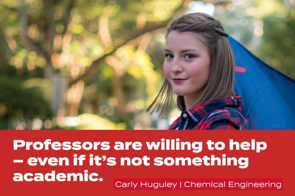 carly quote; professors are willing to help